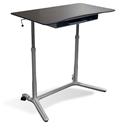 Legacy Modern Compact Lift Desk in Espresso