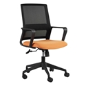 Leiden Orange and Black Modern Office Chair