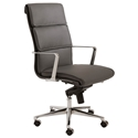 Leif Gray Modern High Back Office Chair