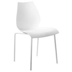 Lena Modern All White Dining Side Chair by Euro Style
