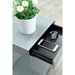 Leno Gray Modern End Table With Drawer - Detail