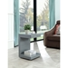 Leno Gray Modern End Table With Drawer