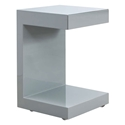 Leno Gray Modern Nightstand + End Table
