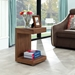 Leno Walnut Modern End Table + Nightstand