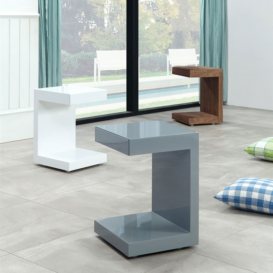 Modern Bedroom End Tables leno walnut modern nightstand + end table | eurway
