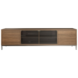 Modloft Lenox Walnut Modern Media Cabinet