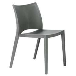 Leon Gray Polypropylene Modern Dining Side Chair