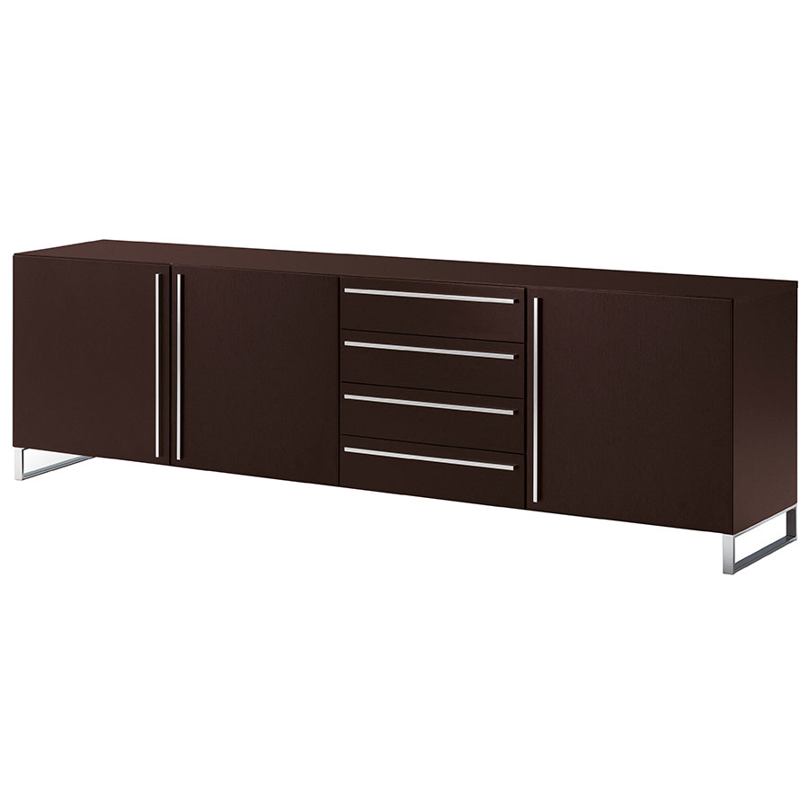 leopold long wenge sideboard eurway modern furniture. Black Bedroom Furniture Sets. Home Design Ideas