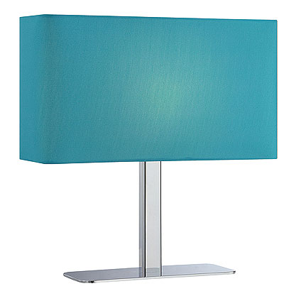 Lepon Contemporary Table Lamp - Blue Shade