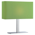 Lepon Contemporary Table Lamp with a Green Shade