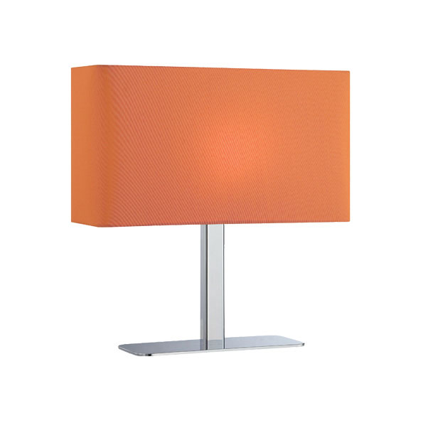 Lepon Contemporary Table Lamp with an Orange Shade