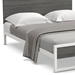 Leslie Modern Bed - Snow + Mouse Finishes Shown