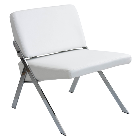 Leticia White Modern Chair