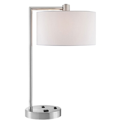 Lexi Modern Brushed Nickel Table Lamp