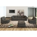 Lexicon 6-Piece Modern Bonded Leather Gray Seating Set