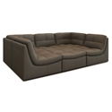 Lexicon 6-Piece Modular Seating Group in Gray Bonded Leather