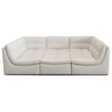 Lexicon 6-Piece Modular Seating Group in White Bonded Leather