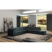 Lexicon Modern Gray Bonded Leather Sectional Sofa