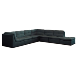 Lexicon 7-Piece Modular Sectional in Gray Leather