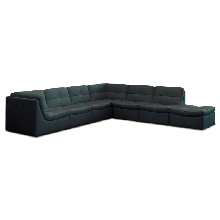 Lexicon 7-Piece Modular Sectional in Gray Bonded Leather
