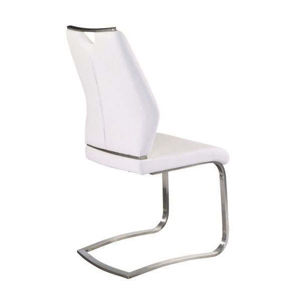 ... Lexington White + Brushed Contemporary Side Chair ...