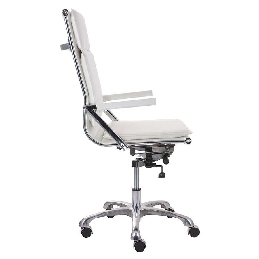Lider Plus White High Back Contemporary Office Chair