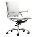 Lamar White Modern Office Chair