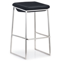Lids bar stool in dark gary by Zuo