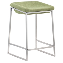 Lids Modern Green Counter Stools by Zuo