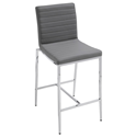 Lily Gray Modern Counter Stool