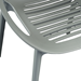 Lerner Gray Modern Dining Chair Detail