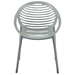 Lerner Gray Contemporary Stacking Arm Chair