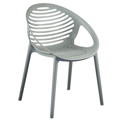 Lerner Gray Modern Stacking Arm Chair