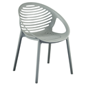 Lima Gray Modern Stacking Arm Chair