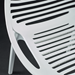 Lima White Modern Stacking Arm Chair Detail