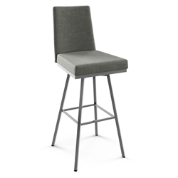 Linea Modern Swivel Bar Stool by Amisco in Magnetite