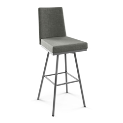 Linea Modern Swivel Counter Stool by Amisco in Magnetite