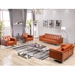 Lisa Modern Cognac Leather Lounge Collection