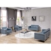 Lisa Modern Gray Leather Lounge Collection