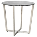Llona Modern Black Marble-Look Side Table by Euro Style