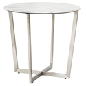 Llona Modern White Marble-Look Side Table by Euro Style