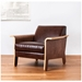 Lodge Contemporary Lounge Chair in Chestnut Brown Leather - Lifestyle
