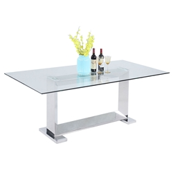 Lofoten Modern Clear Glass Dining Table