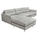 Logan Contemporary Bi-Sectional Sofa in Sterling Gravel by Gus* Modern