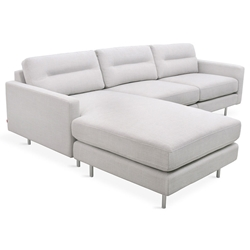 Logan Contemporary Bi-Sectional in Oxford Quartz
