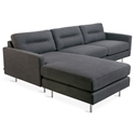 Logan Contemporary Bi-Sectional in Oxford Zinc