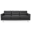 Logan Contemporary Sofa in Oxford Zinc