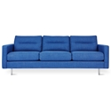 Gus* Modern Logan Sofa in Andorra Lapis Fabric Upholstery + Stainless Steel Legs