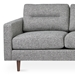 Gus* Modern Logan Sofa in Sterling Gravel Fabric Upholstery + Walnut Wood Legs - Detail