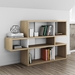 London Oak Veneer + White Lacquer Modern Bookcase by TemaHome - Lifestyle